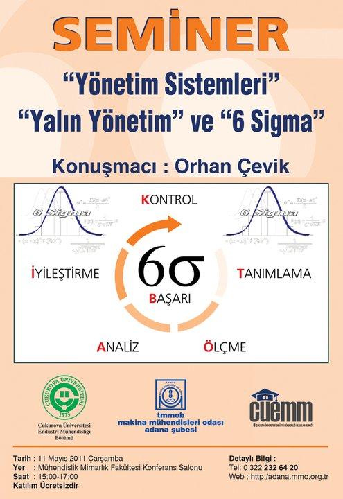 Seminer:Yönetim Sistemleri, Yalın Yönetim ve Altı Sigma