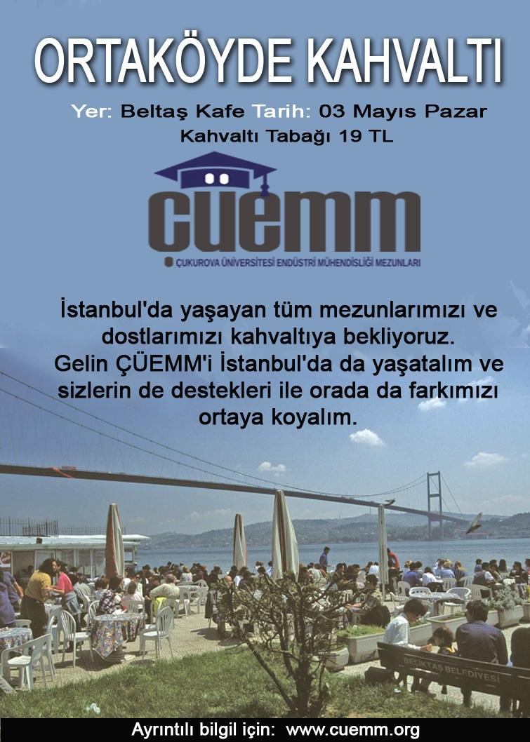 ÇÜEMM Ortaköy'de buluşuyor… 03 Mayıs – Pazar